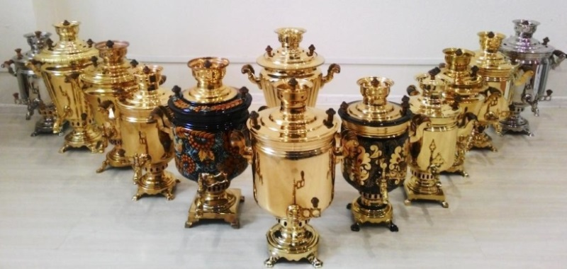 Historical and modern samovar production centers
