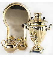 "Samovar 3 liter ""Glass"" in the set"