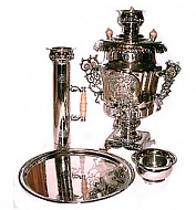 "Exclusive samovar ""Russia"" in the set"