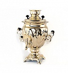 "Brass samovar ""Acorn"" 3 liters"