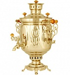 "Samovar antique brass 7 liters of ""Bank"""