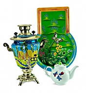 "Samovar 3 l with a set of "" Russian summer day"" 110V"
